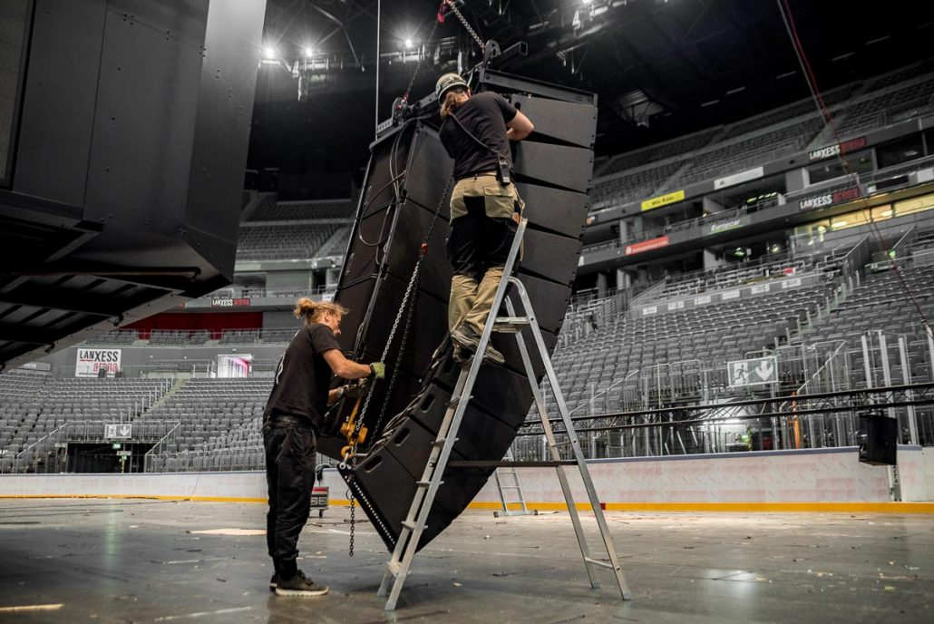 LANXESS Arena chooses TW AUDiO: fixed installation with