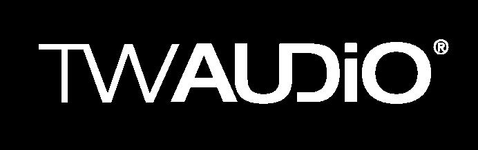 Logo Twaudio in weiss