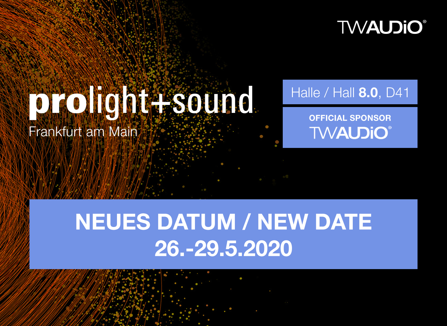 Prolight + Sound verschoben